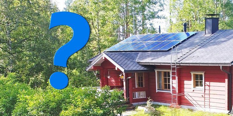 aurinkopaneelit mökille